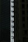 A fire escape in Chicago.