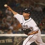 Aces reliever Jason Urquidez.  Photo by Tom Smedes.