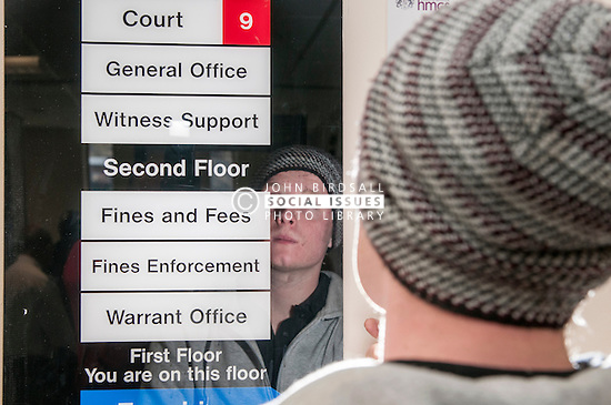 Defendant looking at directions in Sheffield Magistrates' Court
