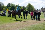 Badminton, Gloucestershire, United Kingdom, 4th May 2019, Izzy Taylor riding Call Me Maggie May during the Cross Country Phase of the 2019 Mitsubishi Motors Badminton Horse Trials, Credit:Jonathan Clarke/JPC Images