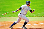 18 July 2010: Staten Island Yankees designated hitter Kyle Roller in action against the Vermont Lake Monsters at Centennial Field in Burlington, Vermont. The Lake Monsters fell to the Yankees 9-5 in NY Penn League action. Mandatory Credit: Ed Wolfstein Photo