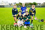 Front l-r  Katie Dwyer and Kelly Gaynor. Back l-r  Oisin McGibney, Cathal Conchobair and David Chute enjoying the Parnells summer camp in Caherslee GAA grounds