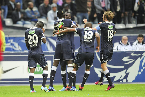 31.05.2013. Stade de france, St Denis, France. Bordeaux celebrate the goal from Cheick Tidiane Diabate Bordeaux in the final of the  Coupe de France. Bordeaux won the match by a score of 3-2.