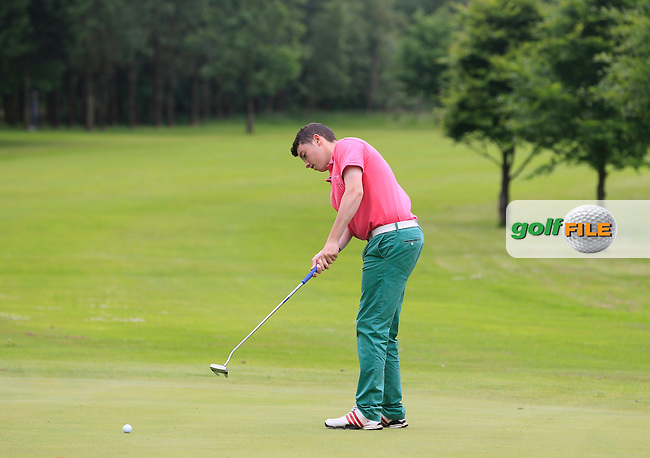 John Corbett Jnr (Thurles) on the 6th green during Round 2 of the Irish Boys Amateur Open Championship at Tuam Golf Club on Wednesday 24th June 2015.<br /> Picture:  Thos Caffrey / www.golffile.ie