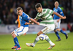 St Johnstone v Celtic...07.05.14    SPFL<br /> Charlie Mulgrew and Paddy Cregg<br /> Picture by Graeme Hart.<br /> Copyright Perthshire Picture Agency<br /> Tel: 01738 623350  Mobile: 07990 594431