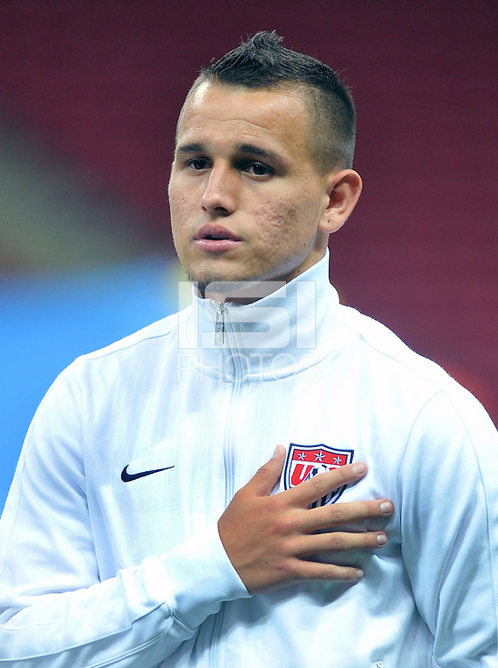 USA U20's Luis Gil during their FIFA U-20 World Cup Turkey 2013 Group Stage Group A soccer match USA U20 betwen Spain at the Kadir Has stadium in Kayseri on June 21, 2013. Photo by Aykut Akici/isiphotos.com