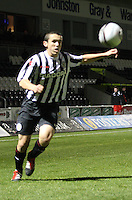 John McGinn in the St Mirren v Dunfermline Athletic Clydesdale Bank Scottish Premier League U20 match played at St Mirren Park, Paisley on 2.10.12.