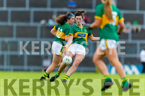Lorraine Scanlon Kerry in action against  Waterford in the TG4 Munster Senior Ladies Football Championship semi-final match between Kerry and Waterford at Fitzgerald Stadium in Killarney on Sunday.