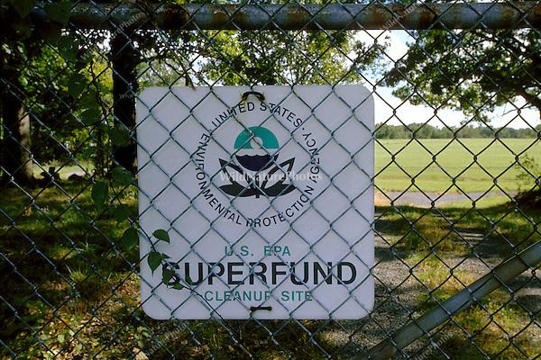 Superfund Cleanup Sign, Michigan City, Indiana