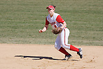 MADISON, WI - APRIL 16: Lynn Anderson #5 of the Wisconsin Badgers softball team plays defense against the Indiana Hoosiers at Goodman Diamond on April 16, 2007 in Madison, Wisconsin. (Photo by David Stluka)