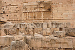 Israel, Jerusalem Archaeological Park, a pier of large stones by the Western Wall supported the western side of Robinson's Arch<br />