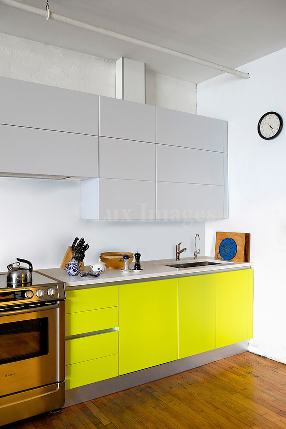 modern yellow kitchen cupboards