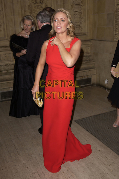 PATSY KENSIT.10th Anniversary National Television Awards, Royal Albert Hall, London, October 26th 2004..full length red dress.Ref: FIN.www.capitalpictures.com.sales@capitalpictures.com.©Steve Finn/Capital Pictures .