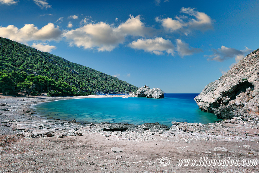 Mylokopi Beach in Corinthia, Greece