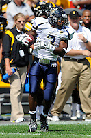 6 September 2008:  FIU running back A'mod Ned (3) looks for an opening after catching a Paul McCall pass in the first half of the Iowa 42-0 victory over FIU at Kinnick Field in Iowa City, Iowa.