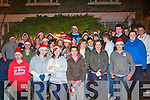 The Kilgarvan youth club who provided the entertainment for the official switching on of the lights in Kilgarvan this week. The club helped raise funds to provide extra Christmas lights for the village this year.