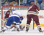 Cory Schneider, Jeremy Hall, Anthony Aiello - The University of Massachusetts-Lowell River Hawks defeated the Boston College Eagles 6-3 on Saturday, February 25, 2006, at the Paul E. Tsongas Arena in Lowell, MA.