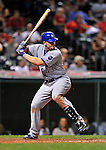 13 September 2008: Kansas City Royals' first baseman Ryan Shealy in action against the Cleveland Indians at Progressive Field in Cleveland, Ohio. The Royals defeated the Indians 8-4 in the second game, sweeping their double-header...Mandatory Photo Credit: Ed Wolfstein Photo