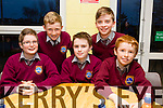 Pupils from Scoile Réalta na Maidine Listowel front l-r Donnacha Nolan, Rory O'Sullivan, Tiernan Pierce.Back l-r Danny Keane and Cillian Rodriguez. at the Primary schools science quiz  ITT South Campus on Thursday