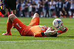 James McKeown of Grimsby Town looks dejected after the 2015 Vanarama Conference Promotion Final match between Grimsby Town and Bristol Rovers at Wembley Stadium, London<br /> Picture by David Horn/eXtreme aperture photography +44 7545 970036<br /> 17/05/2015
