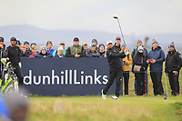 Jordan Smith (ENG) on the 15th tee during Round 4 of the Alfred Dunhill Links Championship 2019 at St. Andrews Golf CLub, Fife, Scotland. 29/09/2019.<br /> Picture Thos Caffrey / Golffile.ie<br /> <br /> All photo usage must carry mandatory copyright credit (© Golffile | Thos Caffrey)