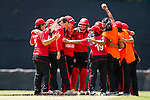 Players of Hong Kong celebrate during their ICC 2016 Women's World Cup Asia Qualifier match between China and Hong Kong on 10 October 2016 at the Hong Kong Cricket Club in Hong Kong, China. Photo by Victor Fraile / Power Sport Images