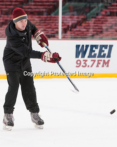 Brian Hurley (BC - Student Manager) - The Boston College Eagles practiced at Fenway on Friday, January 6, 2017, in Boston, Massachusetts.
