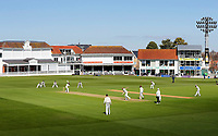 St Lawrence ground bathed in sunshine during the friendly game between Kent CCC and Surrey at the St Lawrence Ground, Canterbury, on Thursday Apr 5, 2018