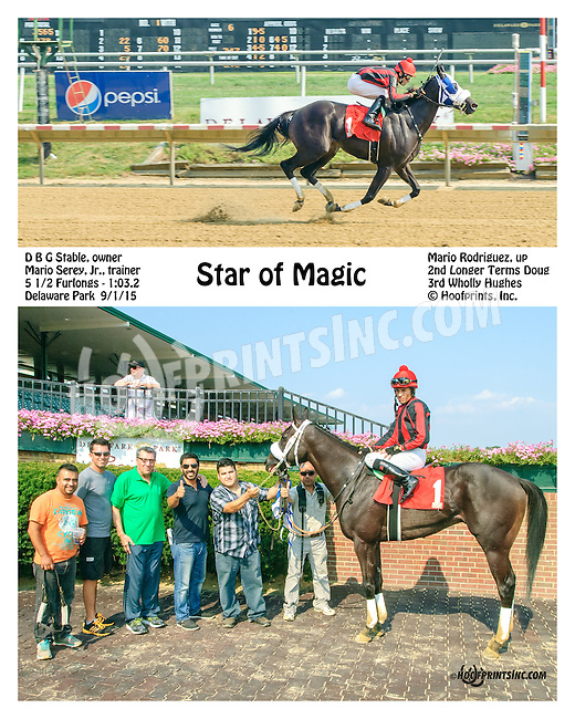 Star of Magic winning at Delaware Park on 9/1/15