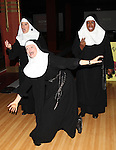 Bambi Jones, Christine Mild and Jeanne Tinker  performing a preview of 'Nunset Boulevard: The Nunsense Hollywood Bowl Show' at the Bowlmor Lanes Thursday, Sept. 27, 2012 in Times Square, New York.