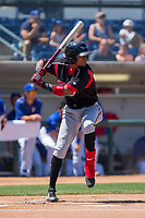 Lake Elsinore Storm Edward Olivares (11) at bat against the Rancho Cucamonga Quakes at LoanMart Field on April 22, 2018 in Rancho Cucamonga, California. The Storm defeated the Quakes 8-6.  (Donn Parris/Four Seam Images)