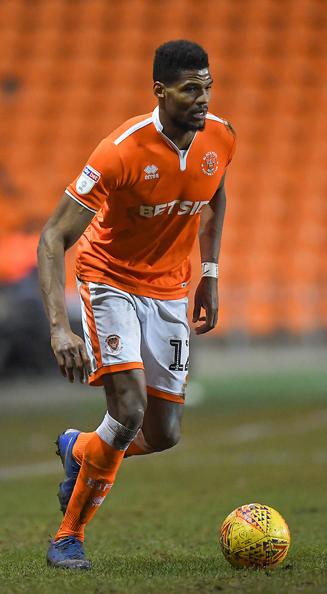 Blackpool's Michael Nottingham<br /> <br /> Photographer Dave Howarth/CameraSport<br /> <br /> The EFL Sky Bet League One - Blackpool v Wycombe Wanderers - Tuesday 29th January 2019 - Bloomfield Road - Blackpool<br /> <br /> World Copyright © 2019 CameraSport. All rights reserved. 43 Linden Ave. Countesthorpe. Leicester. England. LE8 5PG - Tel: +44 (0) 116 277 4147 - admin@camerasport.com - www.camerasport.com
