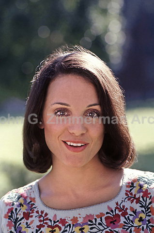 "Portrait of Valerie Harper during first season of ""Rhoda,"" a spin-off of the Mary Tyler Moore Show. CBS Studios, Los Angeles, 1974."