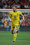 Sweden national team player Emil Forsberg during UEFA EURO 2020 Qualifier match between Spain and Sweden at Santiago Bernabeu Stadium in Madrid, Spain. June 10, 2019. (ALTERPHOTOS/A. Perez Meca)