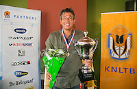 August 24, 2014, Netherlands, Amstelveen, De Kegel, National Veterans Championships, Final men 50+ , Winner Mike Simon <br /> Photo: Tennisimages/Henk Koster