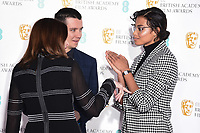 Asa Butterfield and Ella Balinska<br /> at the announcement of nominations for the BAFTA Film Awards 2020, London.<br /> <br /> ©Ash Knotek  D3546 07/01/2020
