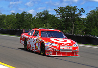 Aug. 7, 2009; Watkins Glen, NY, USA; NASCAR Sprint Cup Series driver Juan Pablo Montoya during practice for the Heluva Good at the Glen. Mandatory Credit: Mark J. Rebilas-