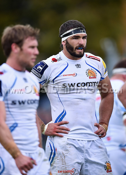 Don Armand of Exeter Chiefs looks on during a break in play. Aviva Premiership match, between Bath Rugby and Exeter Chiefs on October 17, 2015 at the Recreation Ground in Bath, England. Photo by: Patrick Khachfe / Onside Images