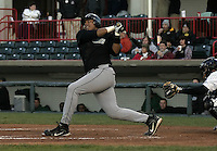 April 23, 2004:  Jose Umbria of the New Hampshire Fisher Cats, Double-A Eastern League affiliate of the Toronto Blue Jays, during a game at Jerry Uht Park in Erie, PA.  Photo by:  Mike Janes/Four Seam Images