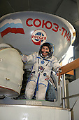 Star City, Russia - August 30, 2006 -- Anousheh Ansari, 39, the first female space tourist,  participates in ISS Soyuz 13/TMA-9 training at the Gagarin Cosmonaut Training Center in Star City, Russia. The spaceflight participant will launch with Expedition 14 and land with Expedition 13 under a commercial contract with the Russian Federal Space Agency. The mission is scheduled to launch September 14, 2006..Credit: Gagarin Cosmonaut Training Center via CNP