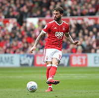Nottingham Forest's Danny Fox<br /> <br /> Photographer Mick Walker/CameraSport<br /> <br /> The EFL Sky Bet Championship - Nottingham Forest v Derby County - Sunday 11th March 2018 - The City Ground - Nottingham<br /> <br /> World Copyright &copy; 2018 CameraSport. All rights reserved. 43 Linden Ave. Countesthorpe. Leicester. England. LE8 5PG - Tel: +44 (0) 116 277 4147 - admin@camerasport.com - www.camerasport.com