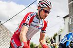 Katusha rider at Cote de Saint-Roch, Houffalize, Belgium, 27 April 2014, Photo by Pim Nijland / www.pelotonphotos.com
