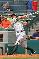 Neftali Soto #19 of the Lynchburg Hillcats at bat during a game against the Myrtle Beach Pelicans at BB&T Coastal Field on May 26, 2010 in Myrtle Beach. Photo by Robert Gurganus/Four Seam Images.