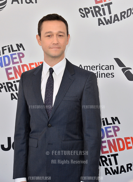 Joseph Gordon-Levitt  at the 2018 Film Independent Spirit Awards on the beach in Santa Monica, USA 03 March 2018<br /> Picture: Paul Smith/Featureflash/SilverHub 0208 004 5359 sales@silverhubmedia.com