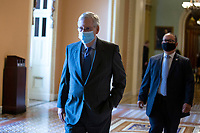 United States Senate Majority Leader Mitch McConnell (Republican of Kentucky) walks to his office at the United States Capitol in Washington D.C., U.S., on Wednesday, May 20, 2020.  Credit: Stefani Reynolds / CNP/AdMedia
