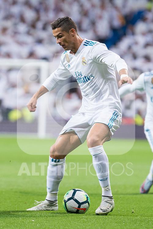 Real Madrid Cristiano Ronaldo during La Liga match between Real Madrid and Eibar at Santiago Bernabeu Stadium in Madrid, Spain. October 22, 2017. (ALTERPHOTOS/Borja B.Hojas)
