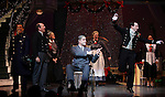 Dennis Stowe, Joel Hatch, Merwin Foard, Jeremy Davis & Company during the Broadway Opening Night Performance Curtain Call for 'Annie' at the Palace Theatre in New York City on 11/08/2012