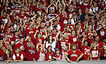Wisconsin Badger fans cheer during an NCAA college football game against the Ohio State Buckeyes on October 16, 2010 at Camp Randall Stadium in Madison, Wisconsin. The Badgers beat the Buckeyes 31-18. (Photo by David Stluka)