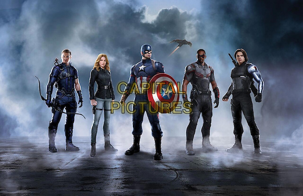 Captain America: Civil War (2016) <br /> Jeremy Renner, Emily VanCamp, Chris Evans, Chadwick Boseman, Sebastian Stan<br /> *Filmstill - Editorial Use Only*<br /> CAP/KFS<br /> Image supplied by Capital Pictures