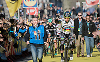 crowd favorite & world champion Peter Sagan (SVK/Bora-Hansgrohe) saluting the crowds on his way to the (new) race start in Antwerpen<br /> <br /> 101th Ronde Van Vlaanderen 2017 (1.UWT)<br /> 1day race: Antwerp › Oudenaarde - BEL (260km)